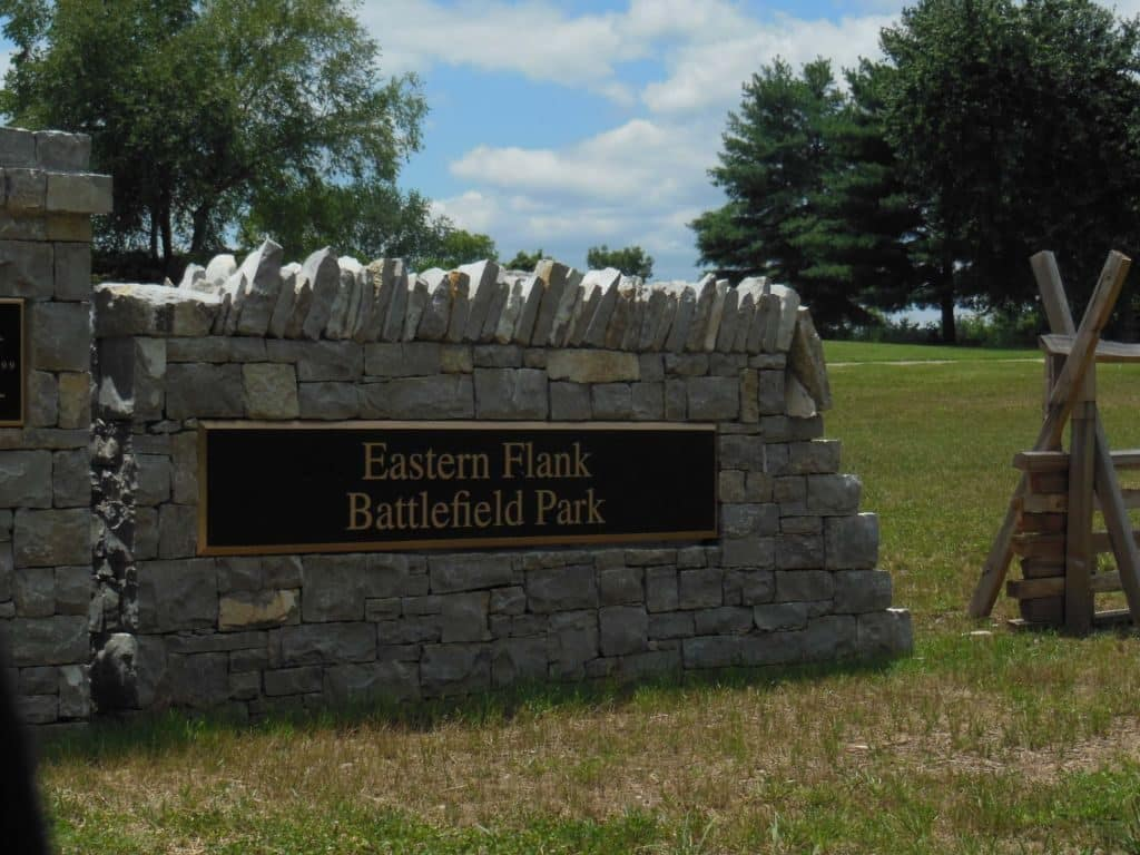 Carnton Plantation park entrance sign