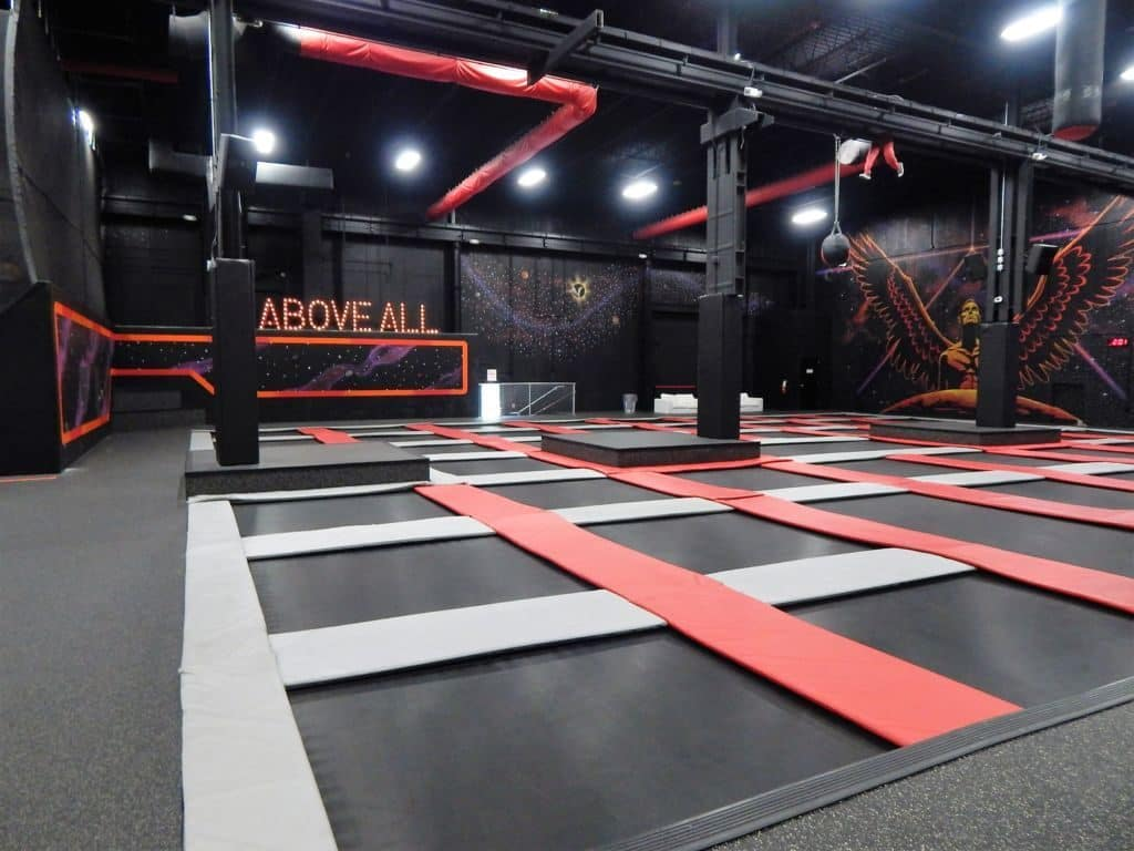 above all extreme air sports trampoline court
