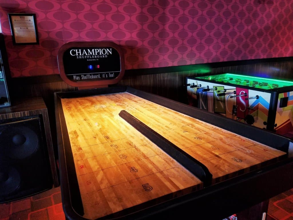 kings bowl bank shot shuffleboard