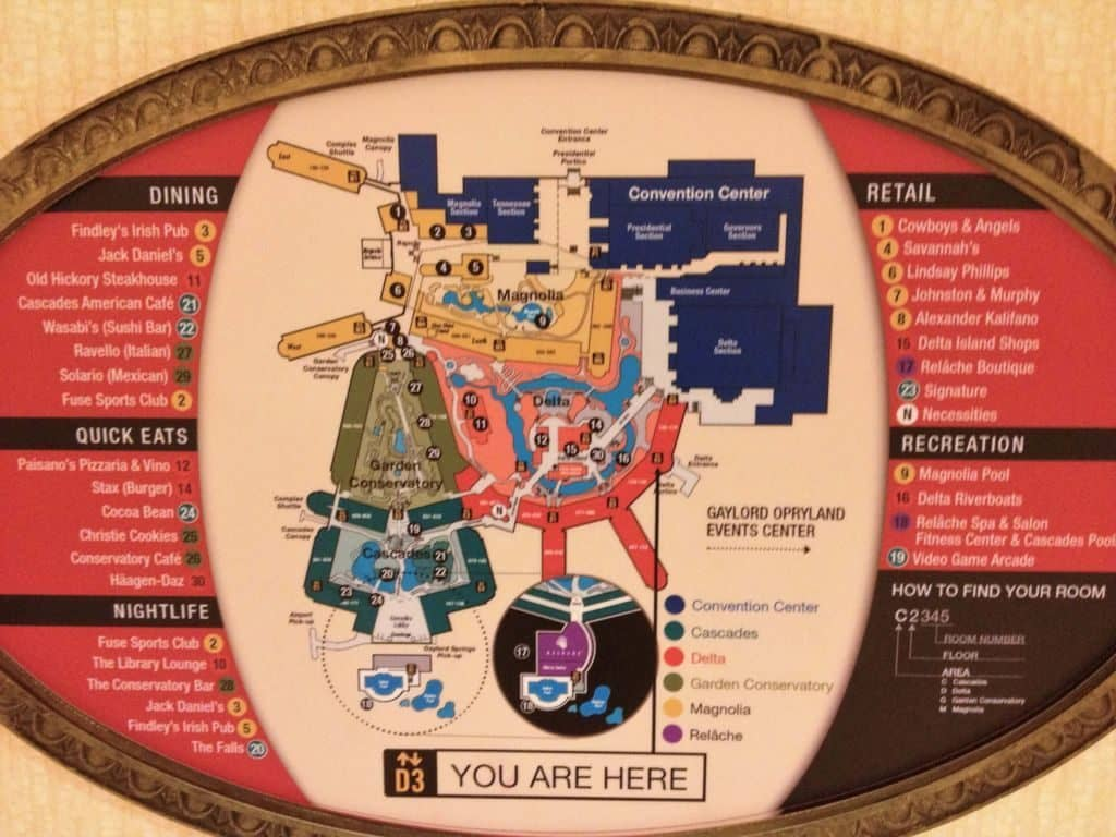 Gaylord Opryland Hotel internal map