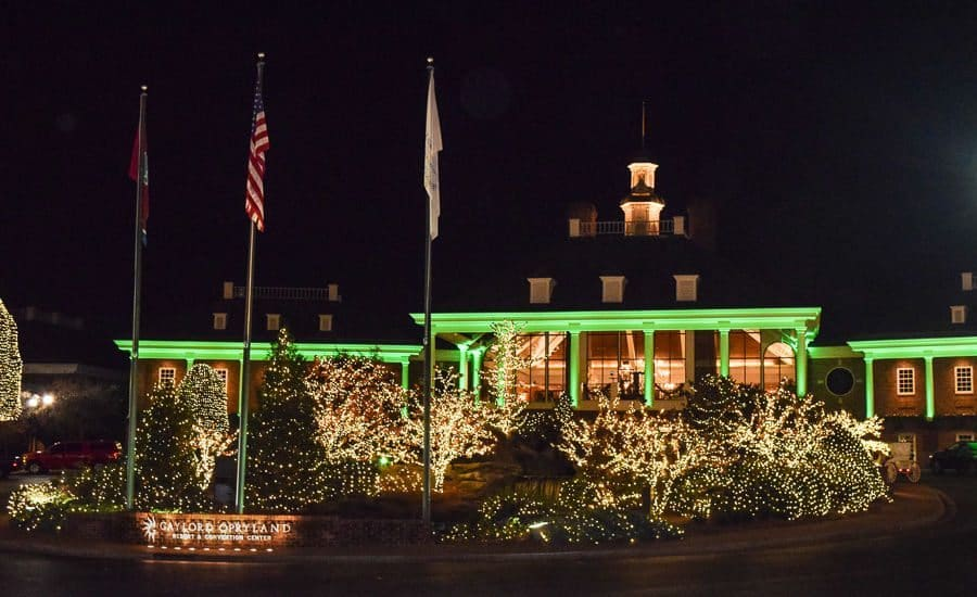 Gaylord Opryland Country Christmas - outside of the hotel