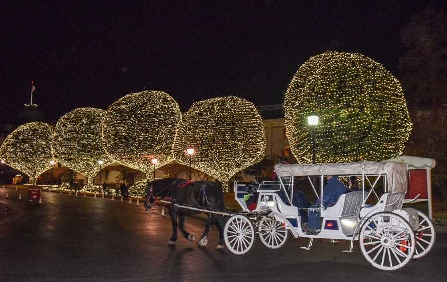 Gaylord Opryland Country Christmas - carriage ride outside Gaylord