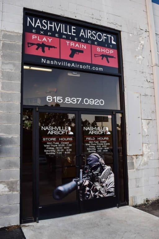 Nashville Airsoft front enterance