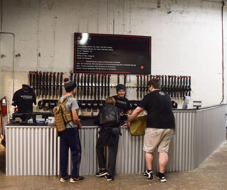 Nashville Airsoft front desk