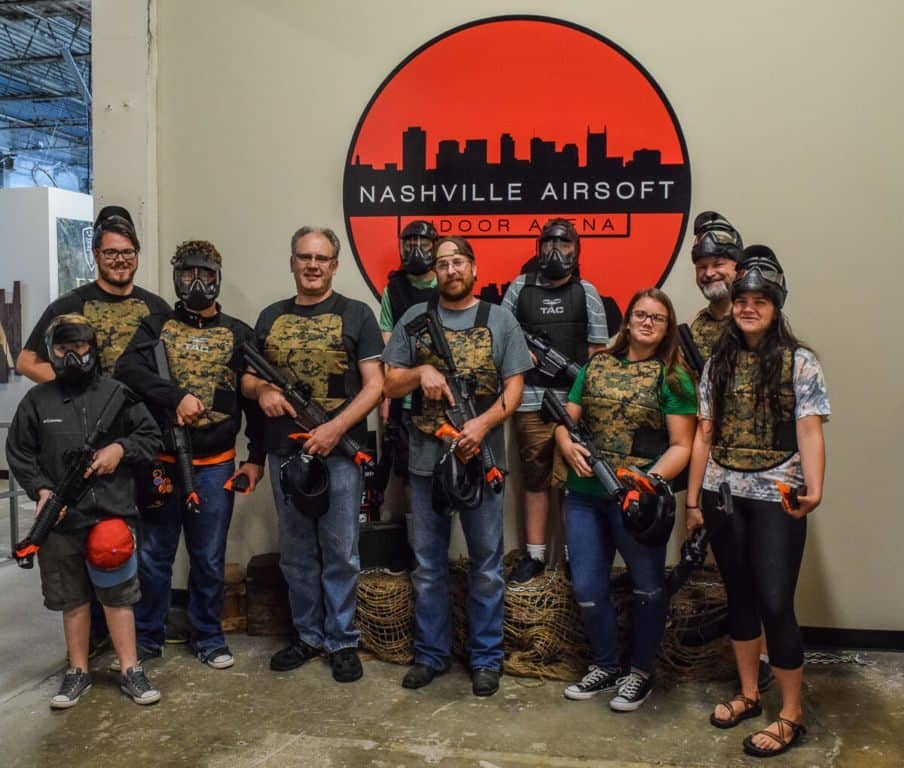 Nashville Airsoft - getting ready to battle