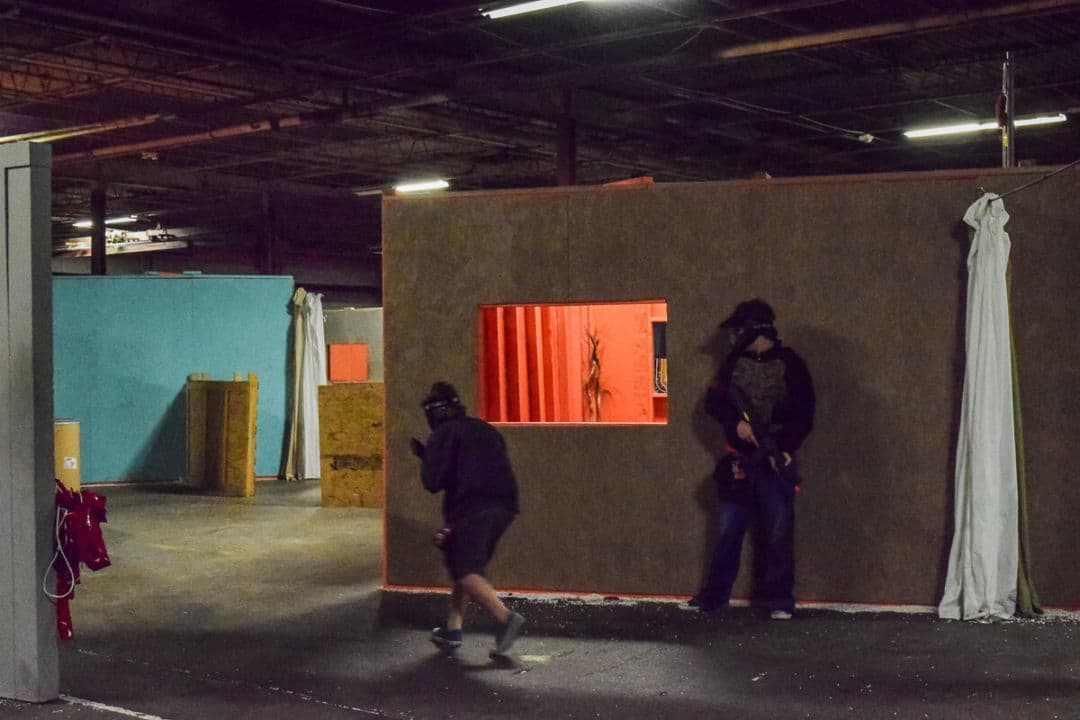 Nashville Airsoft battling 3