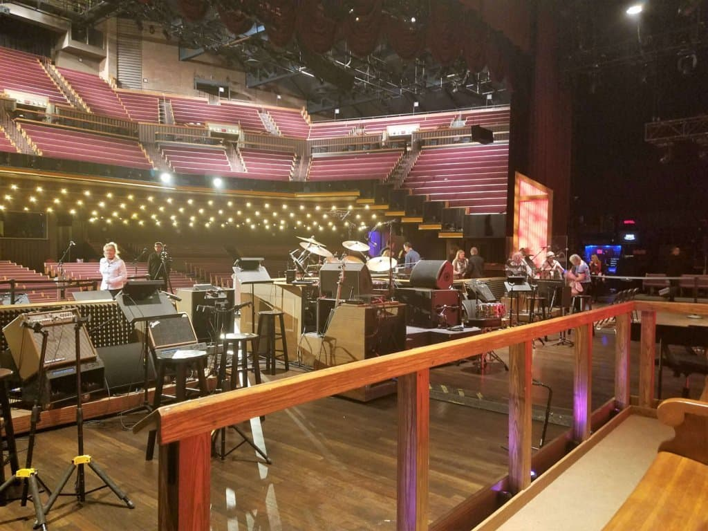 Grand Ole Opry - back stage after the show