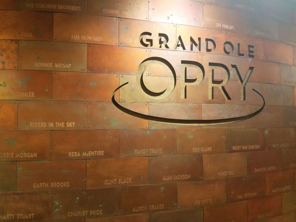 Grand Ole Opry - back stage copper wall