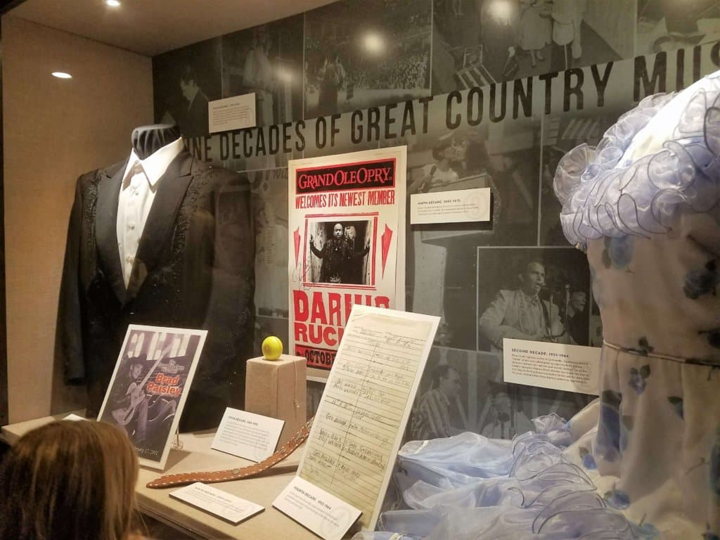 Grand Ole Opry - backstage display
