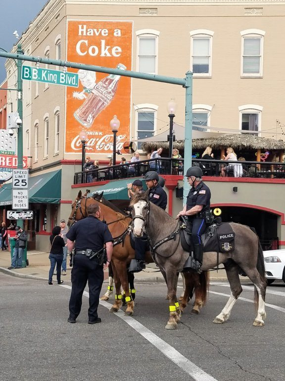 Beale Street - Police Horses
