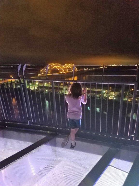 Bass Pro Shops Pyramid Memphis Lookout Balcony at night