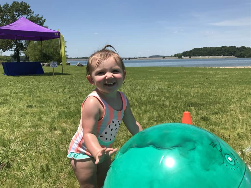 Nashville Shores Kids Fest - smiley baby with a big ball