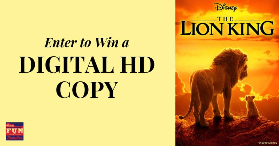 Enter to win a Digital HD copy of the Lion King