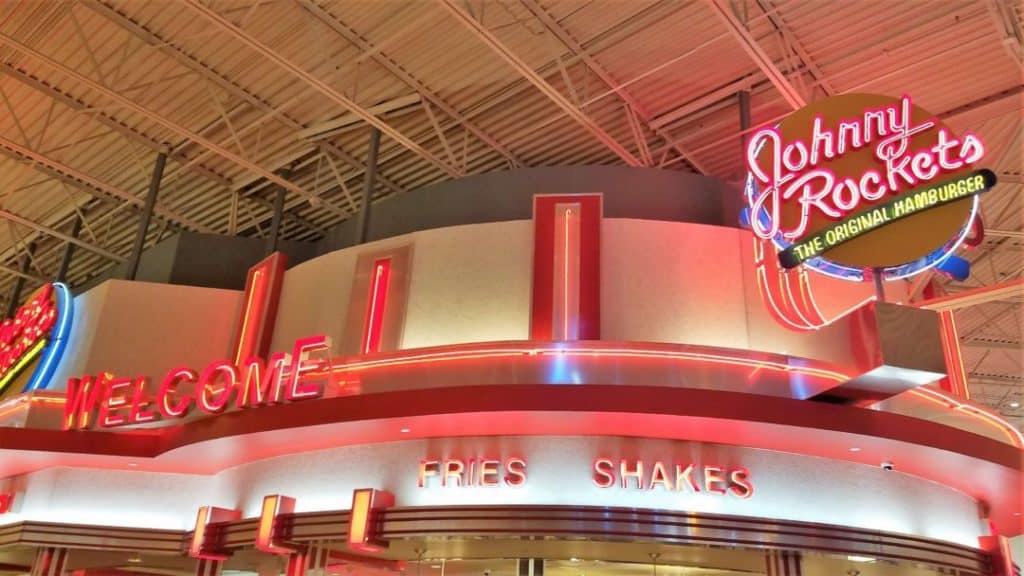 Restaurants In Opry Mills Mall Johnny Rockets Sign