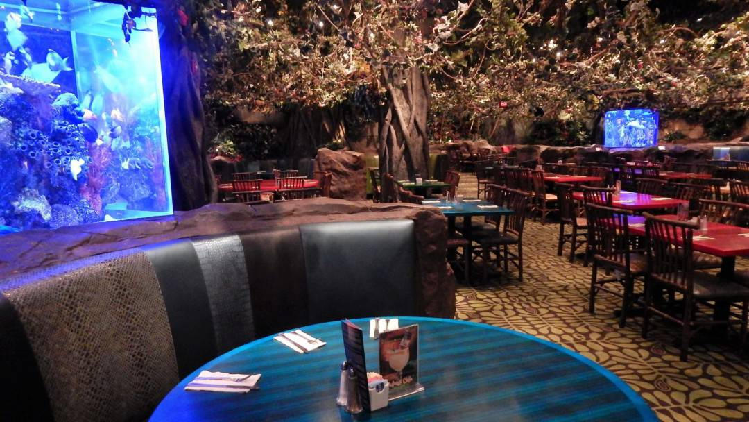 Restaurants in Opry Mills Mall - Rainforest Cafe dining area