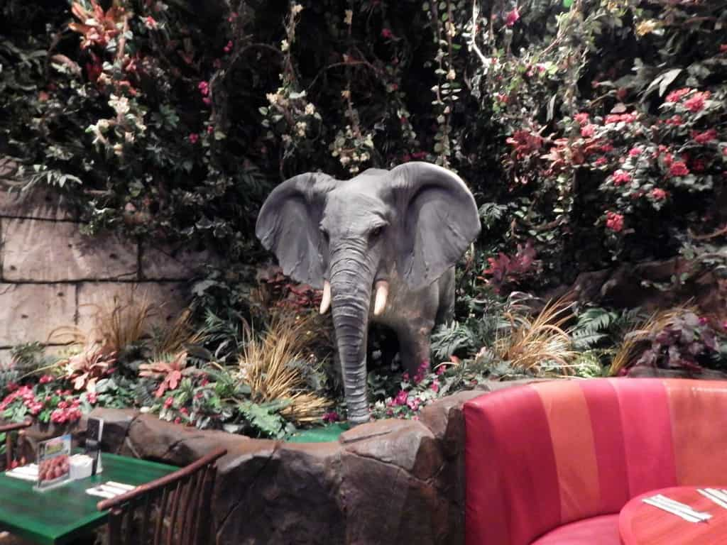 Restaurants in Opry Mills Mall - Rainforest Cafe elephant