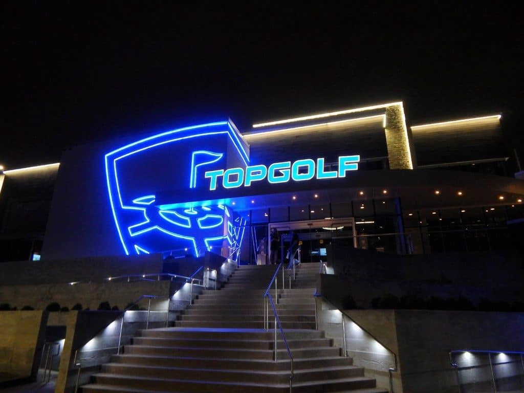 Topgolf Nashville - front entrance