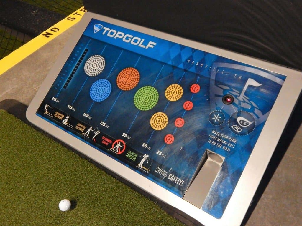 Topgolf Nashville - map of the green and ball machine