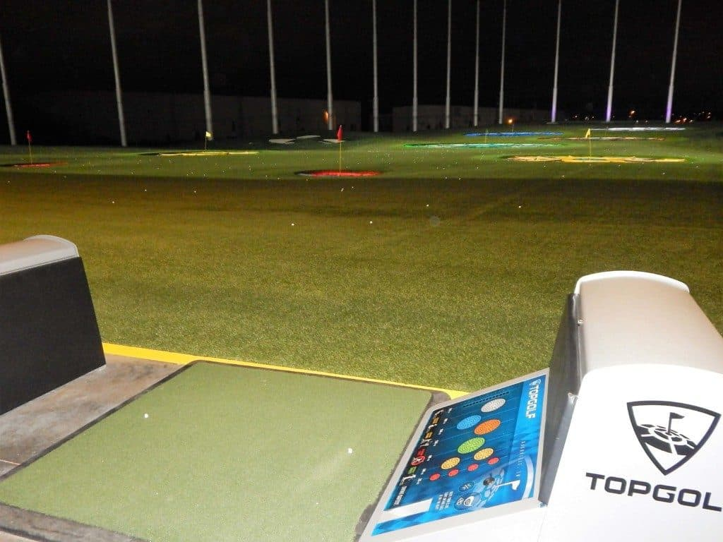Topgolf Nashville - view from putting bay on the ground