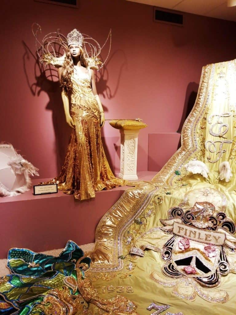 Mobile Carnival Museum Mardi Gras Queen mannequin display