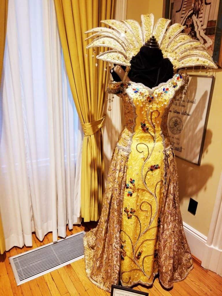 Mobile Carnival Museum Mardi Queen dress display