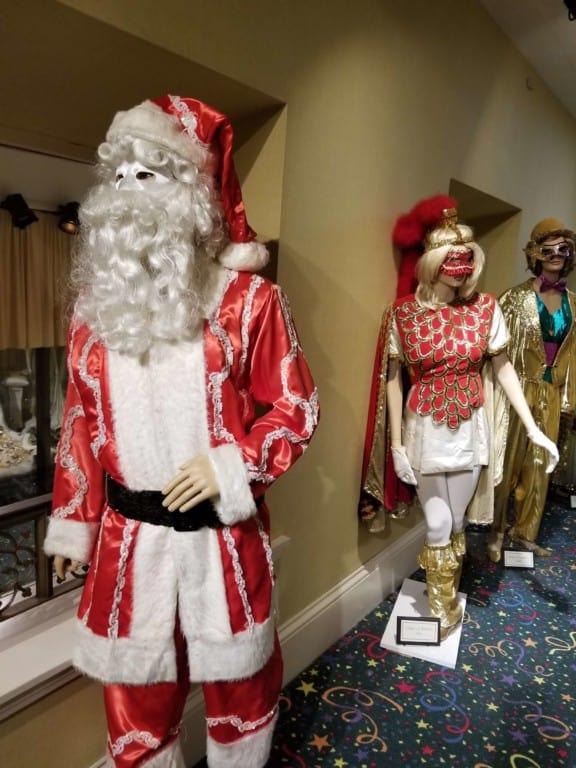 Mobile Carnival Museum Christmas themed Mardi Gras attire