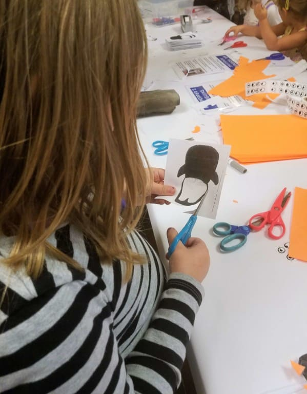Mr. Popper's Penguins - making a penguin puppet