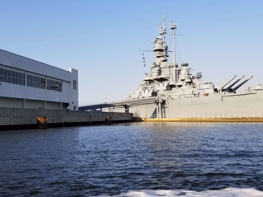 Gulf Coast Ducks view of the USS Alabama