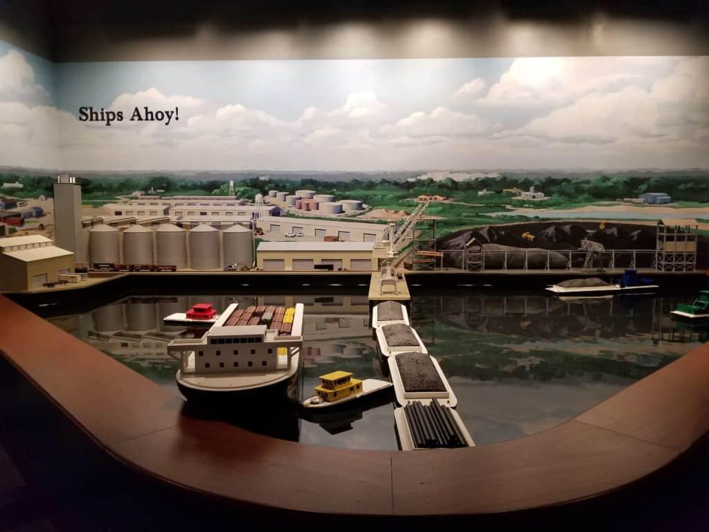 Gulf Quest toy boat exhibit