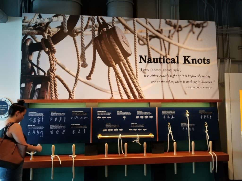 Gulf Quest knots exhibit