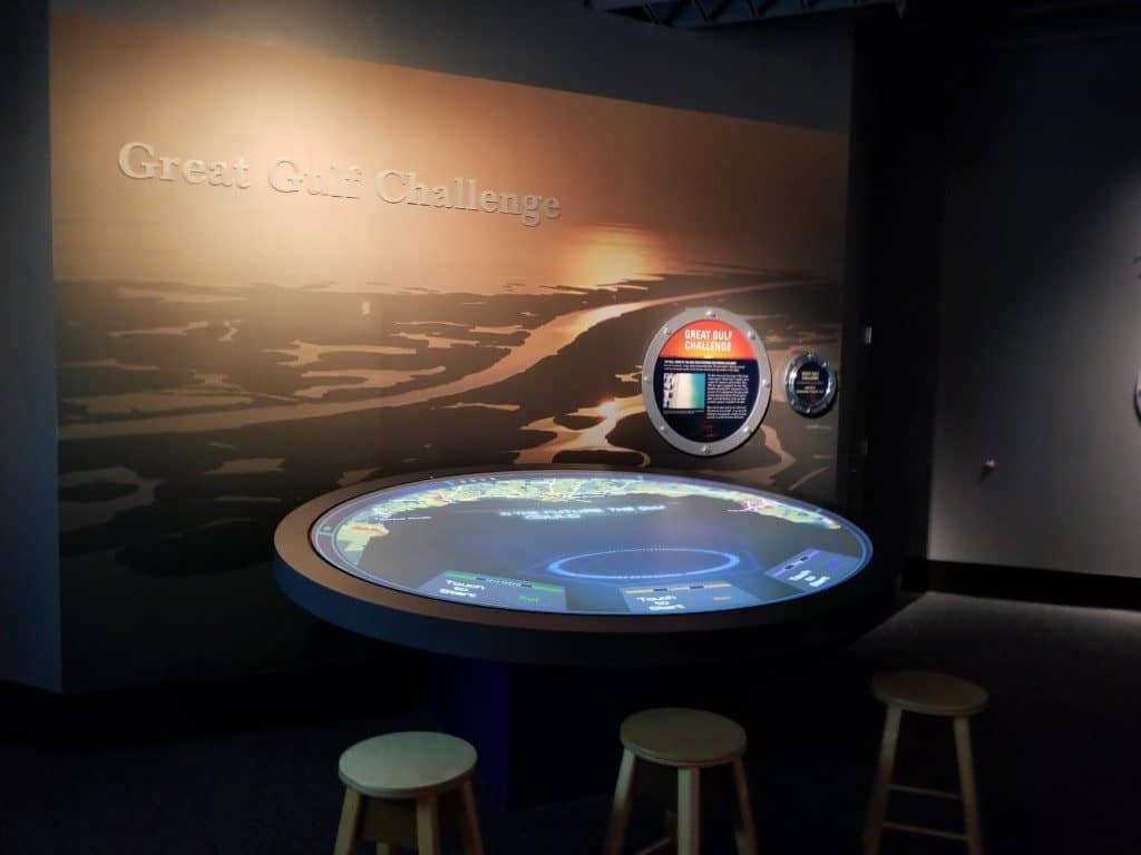 Gulf Quest deck 3 interactive exhibit