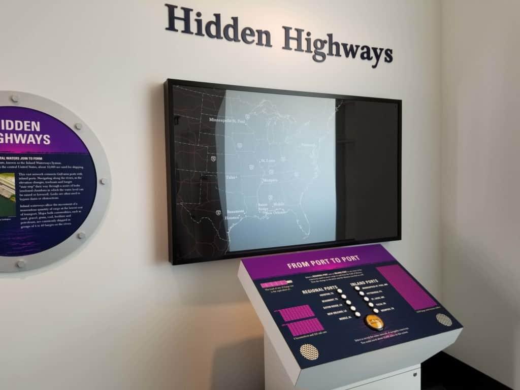 Gulf Quest hidden highway exhibit
