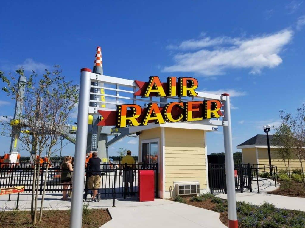 The Park at OWA Air Racer ride entrance
