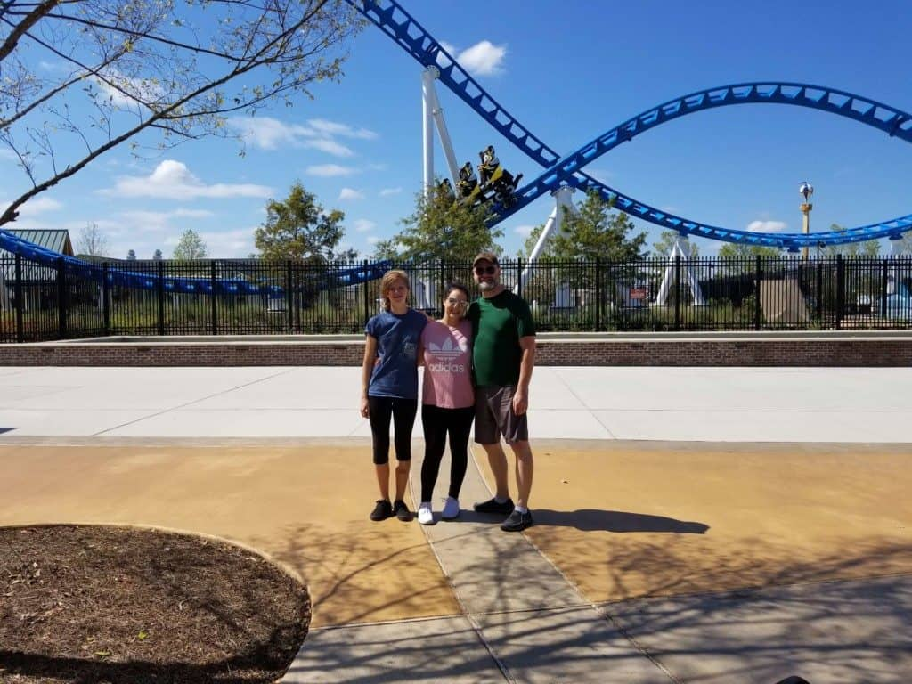 The Park at OWA Rollin' Thunder Roller Coaster ride