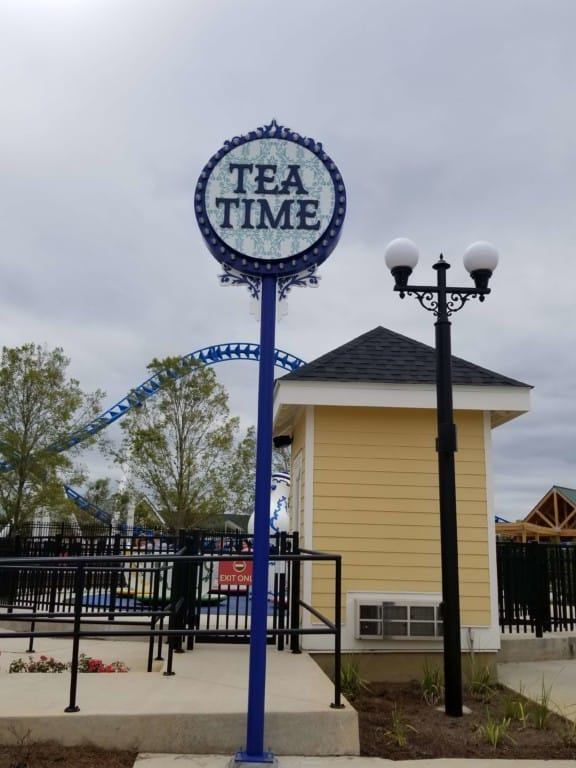 The Park at OWA Tea Time ride entrance