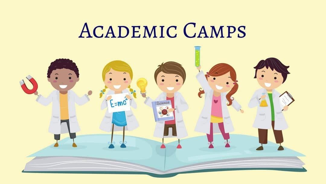 Academic Camps in Nashville - illustration of kids in lab coats
