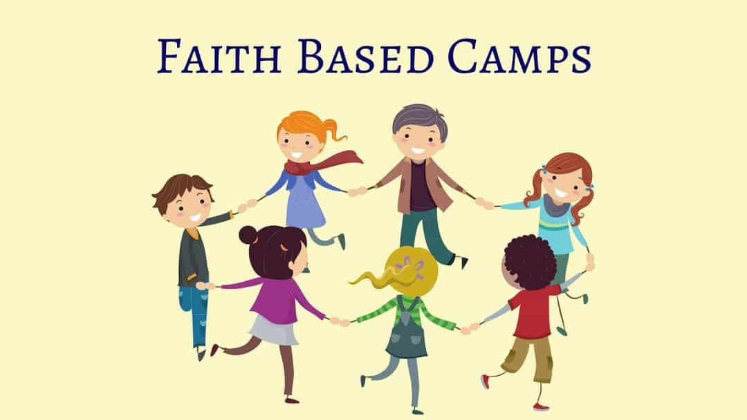 Faith Based Camps - a picture of children holding hands in a circle