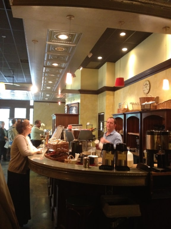 Serving counter at the cafe at Nashville's downtown library