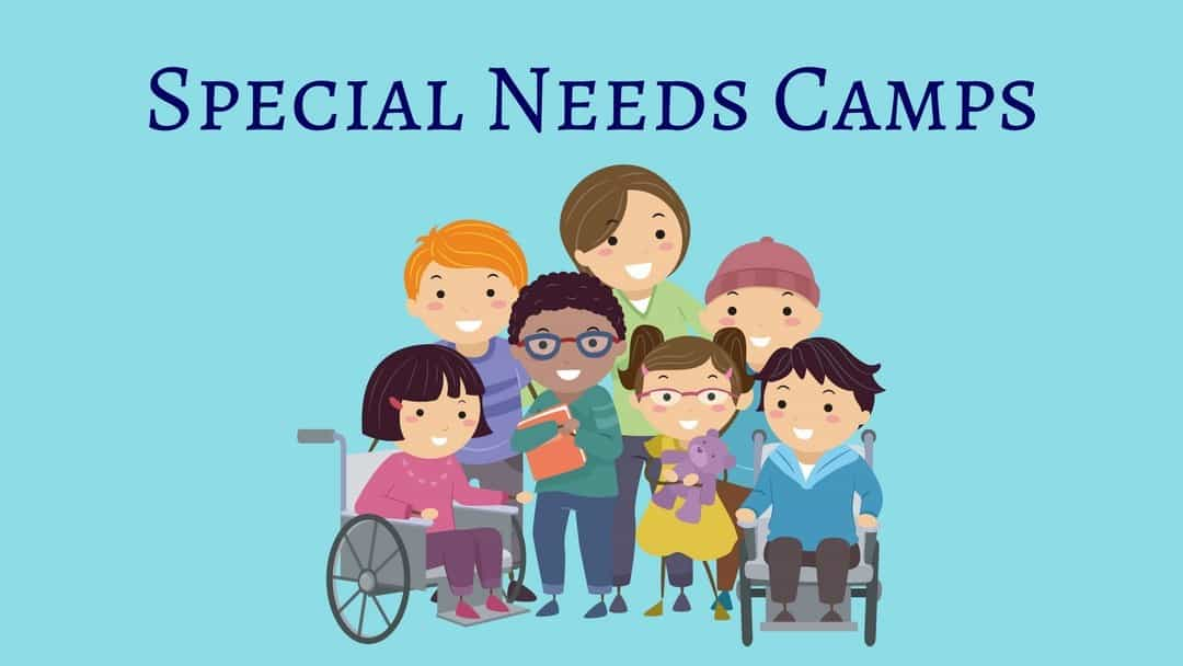 Special Needs Camps in Nashville - an illustration of children with 2 in wheelchairs