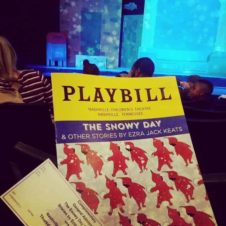The Snowy Day at Nashville Children's Theatre - cover of the playbill