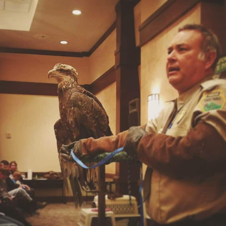 Eagle Awareness Weekend - Ranger with Eagle
