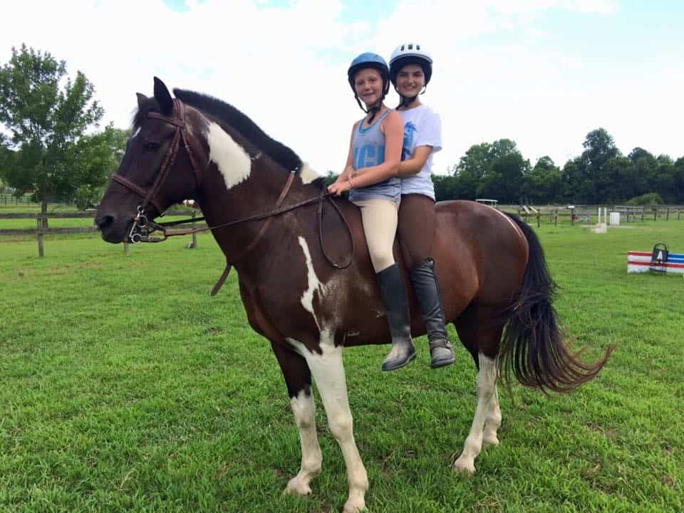 Creekside Riding Academy Camp - campers riding a horse bareback