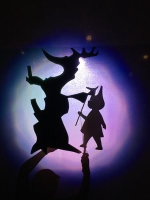 The Snowy Day at Nashville Children's Theatre - shadow puppets