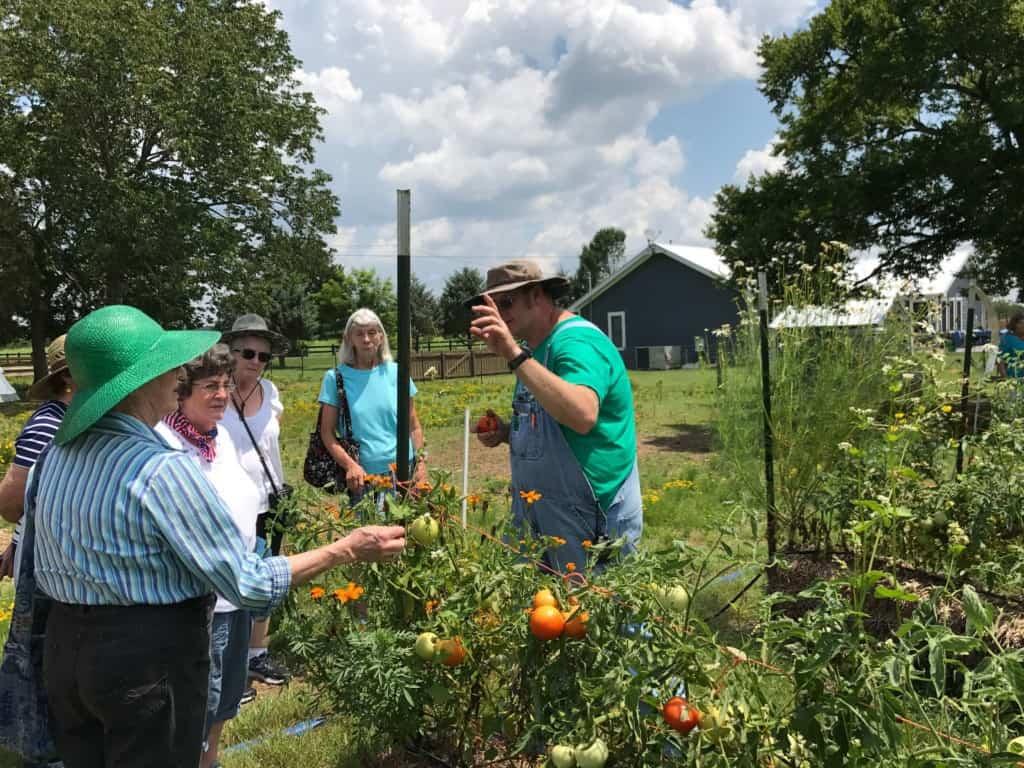 Jason Ladd Teaching Garden Lessons at Lucky Ladd Farms