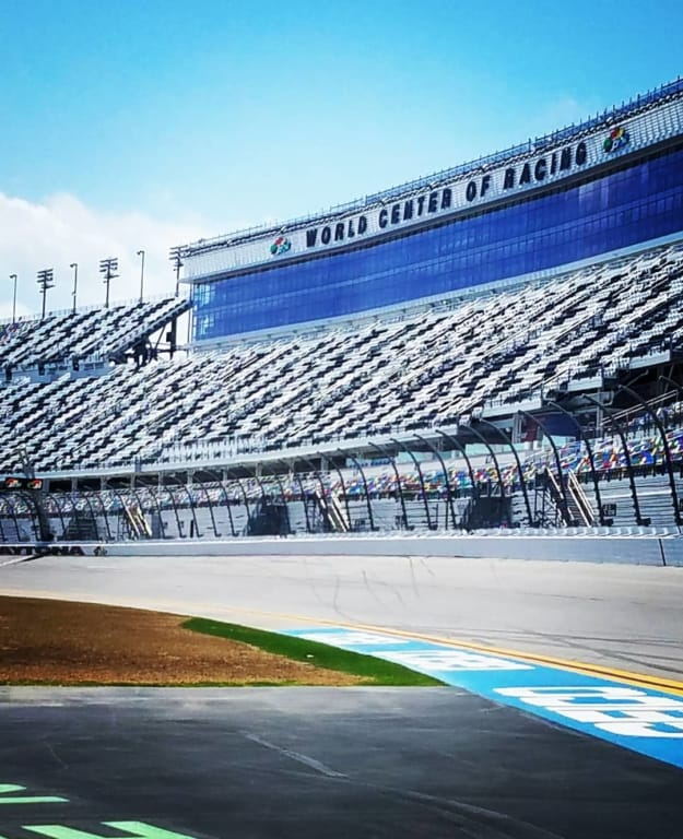 Daytona Speedway on the track