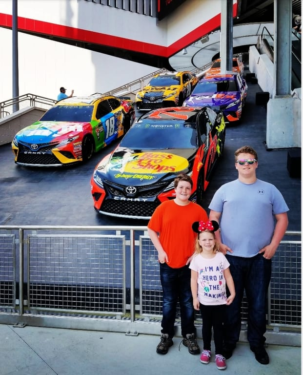 Daytona Speedway Photo with Cars