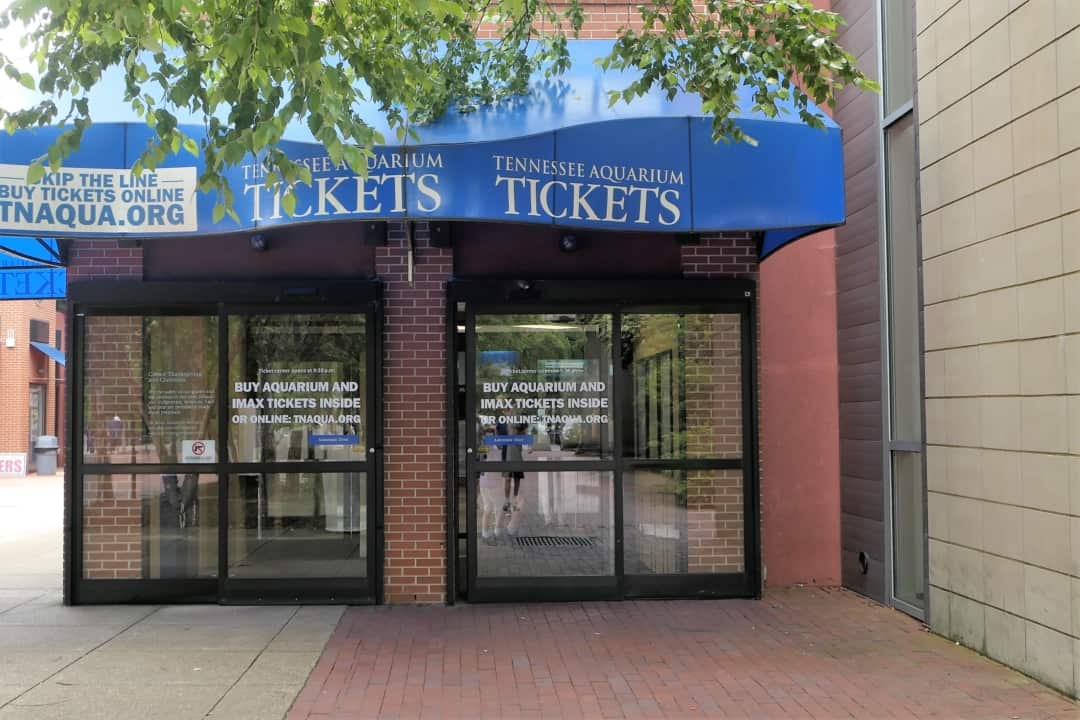 Tennessee State Aquarium - Front of the building to purchase tickets