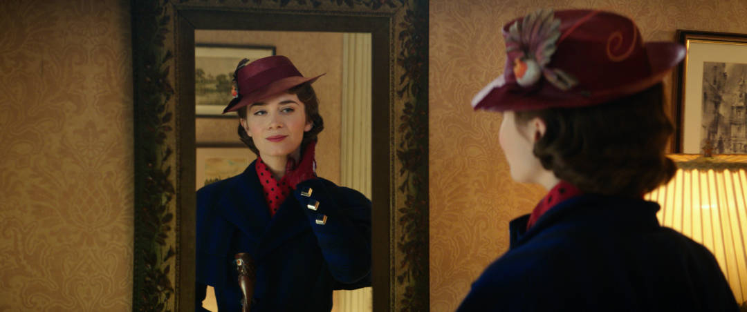 Mary Poppins Returns - Mary looking in the mirror