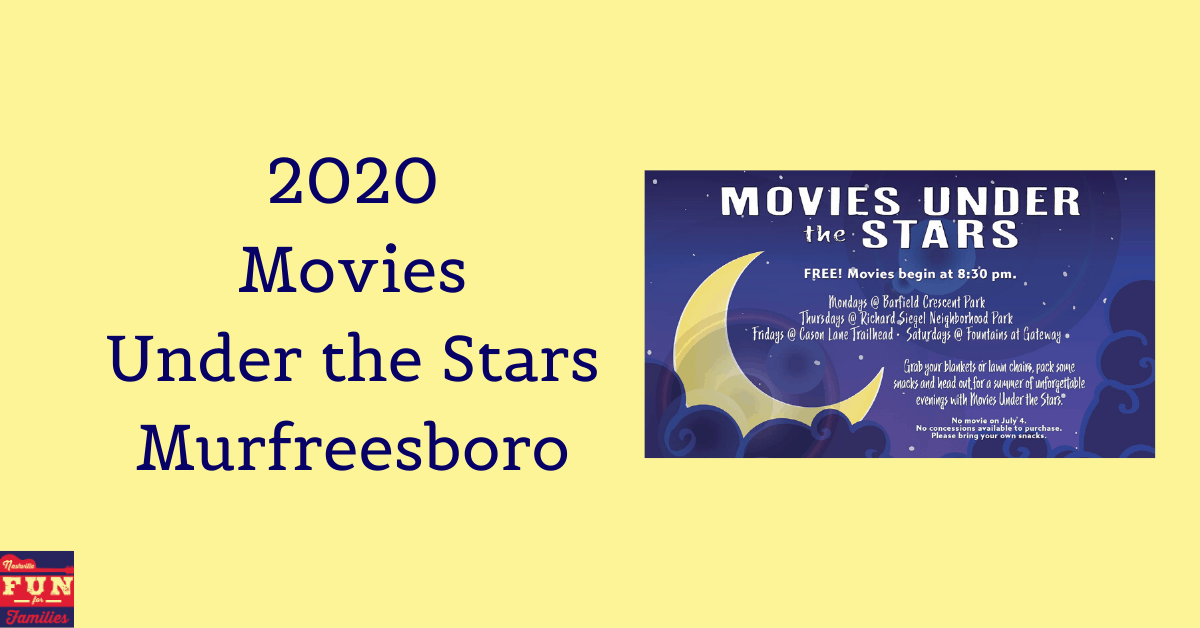 2020 Movies Under the Stars Murfreesboro