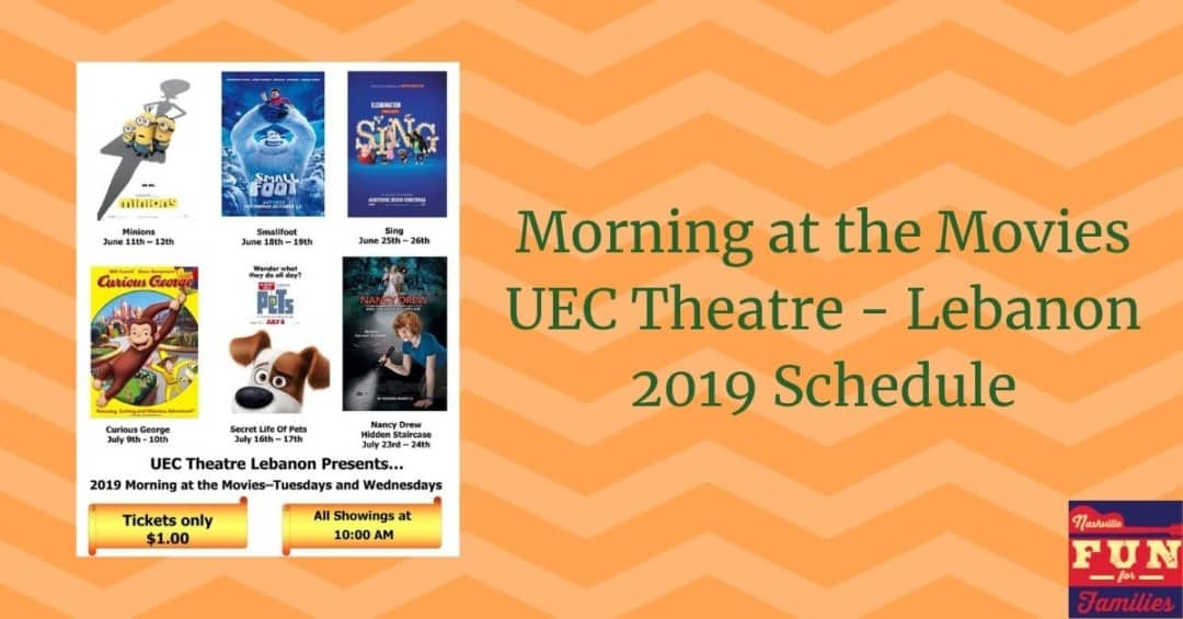 Morning at the Movies at UEC Theatres Lebanon